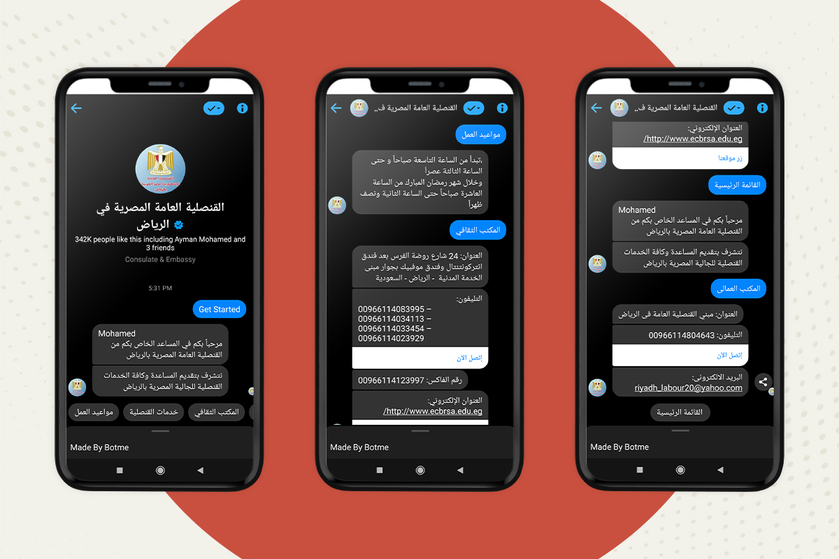 Chatbot for governmental services